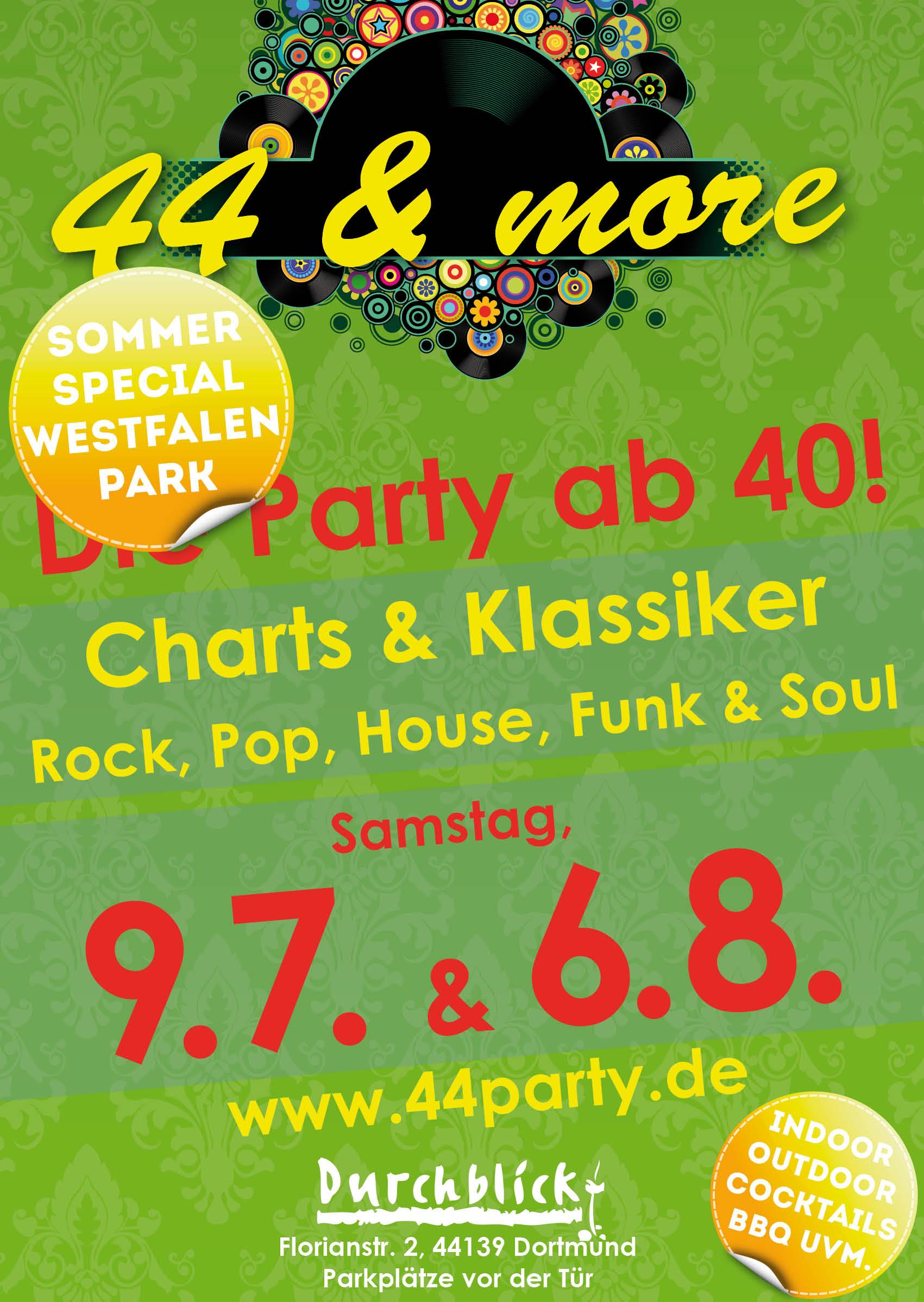 """Die Partyreihe """"44&more"""" verlässt für den Sommer"""