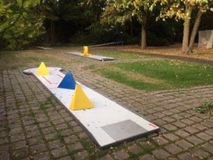 Minigolfbahn im Westfalenpark Dortmund am Café Durchblick